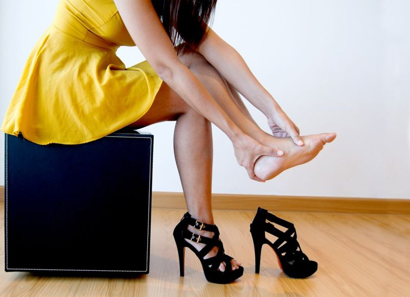 heels back pain