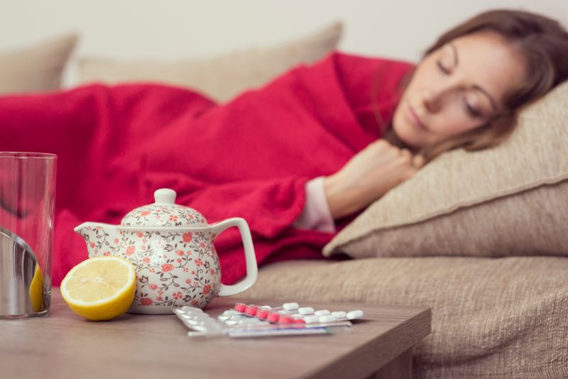 flu sore throat