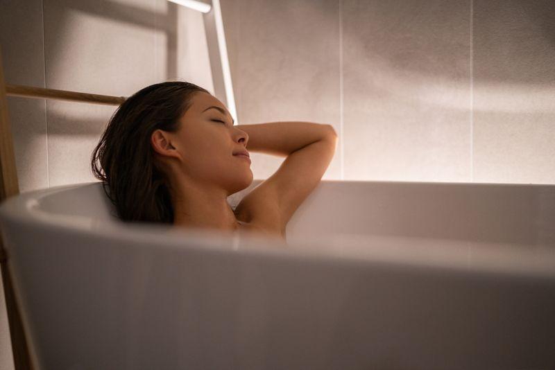 warm bath anxiety