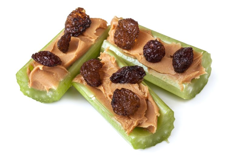 ants on a log healthy snacks for adults