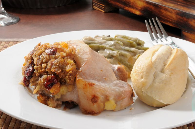 pork chops thanksgiving meal