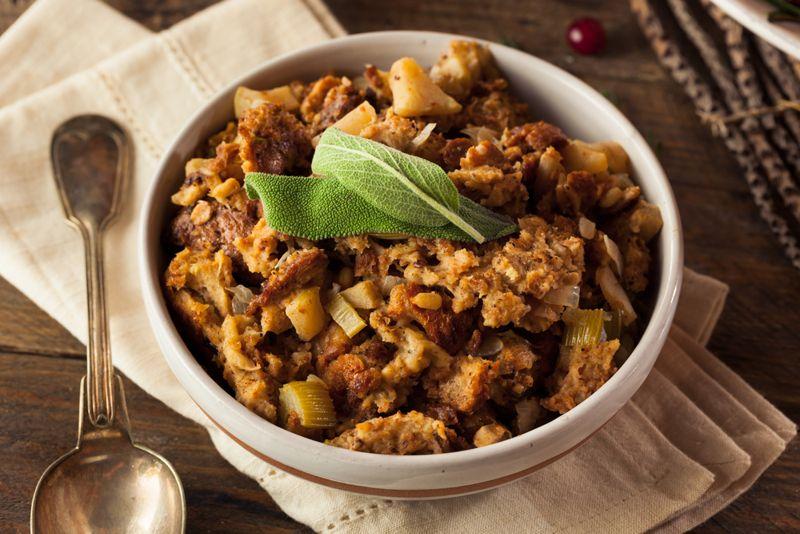 kale thanksgiving meal