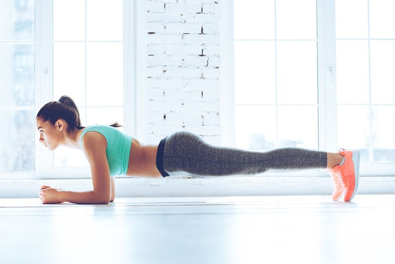 diet and plank exercises
