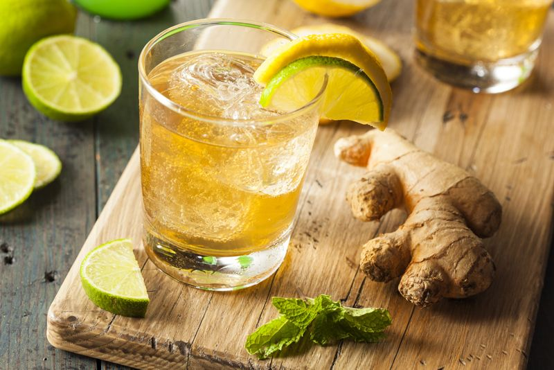detox juices ginger ale