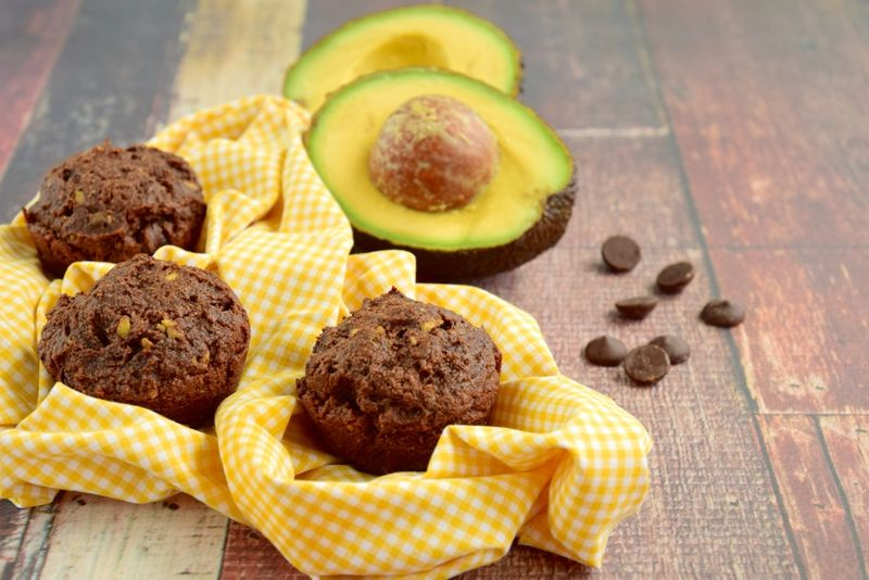 muffins avocados