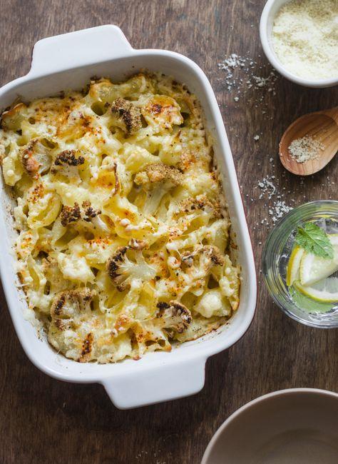 mac n cheese cauliflower recipes