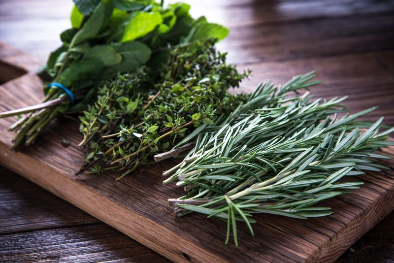 herbs cooking