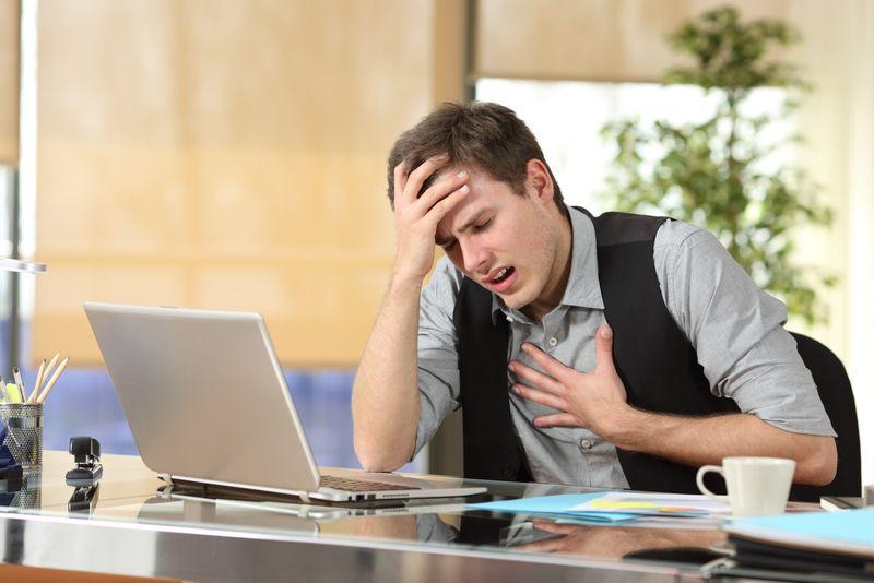 chest pain Tachycardia