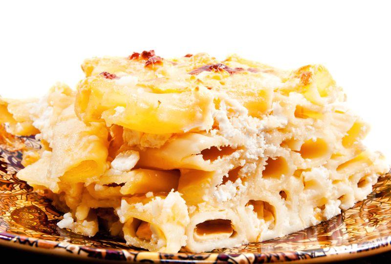 Baked Macaroni and Feta Cheese