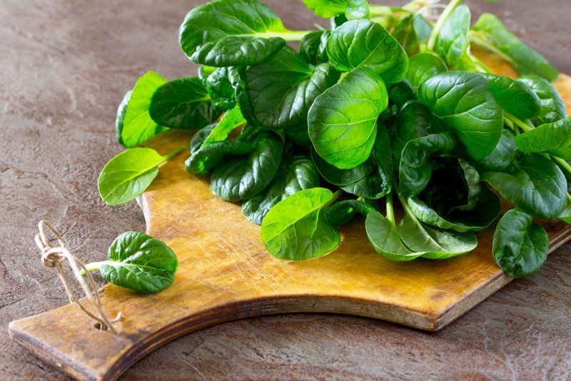 Helps to keep hair healthy Spinach