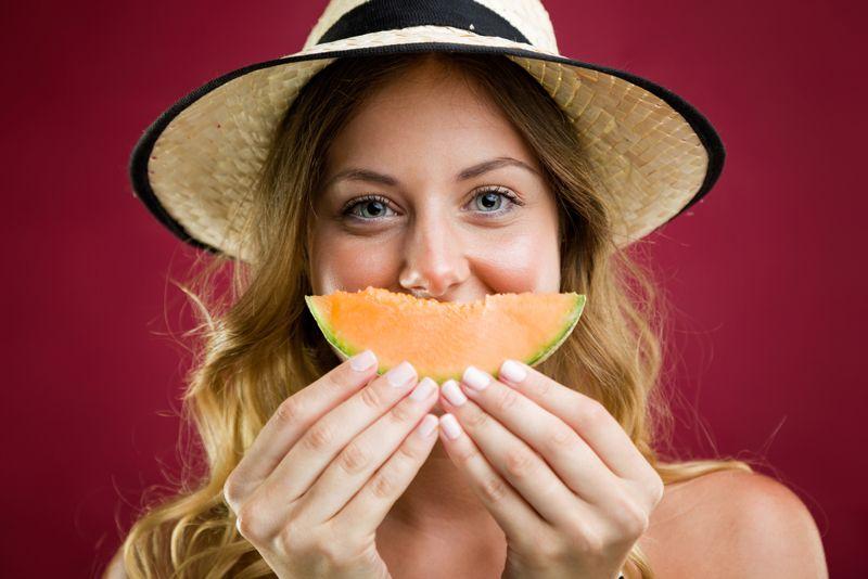 Rich in Vitamin C Cantaloupe