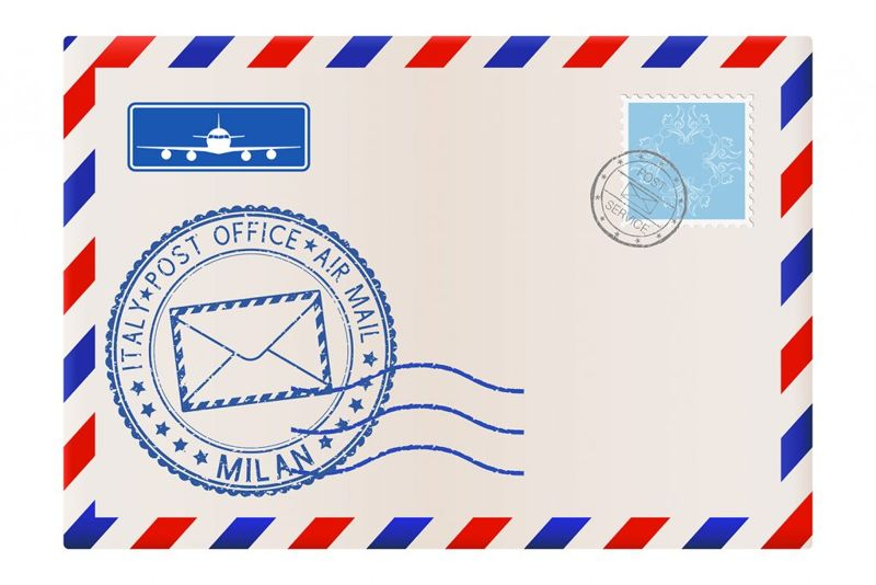 The Envelope, Address and Stamp