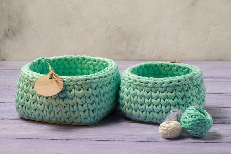 Crochet Stash Baskets
