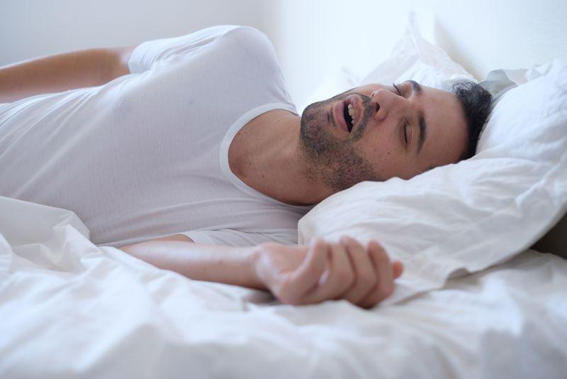 position snoring