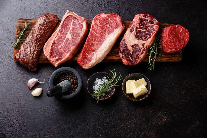 meat potassium levels