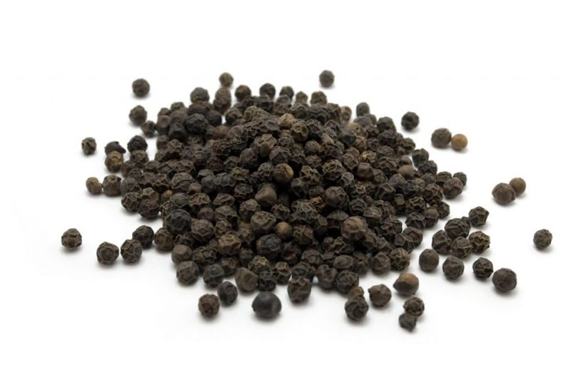 health black peppercorns