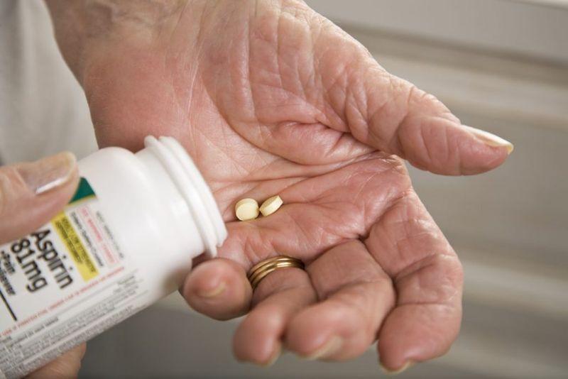 aspirin adult hand
