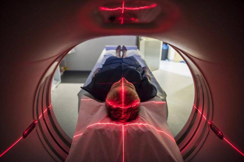 MRI scanner brain scan patient