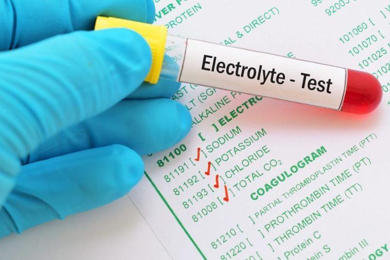 electrolytes arterial blood gas test