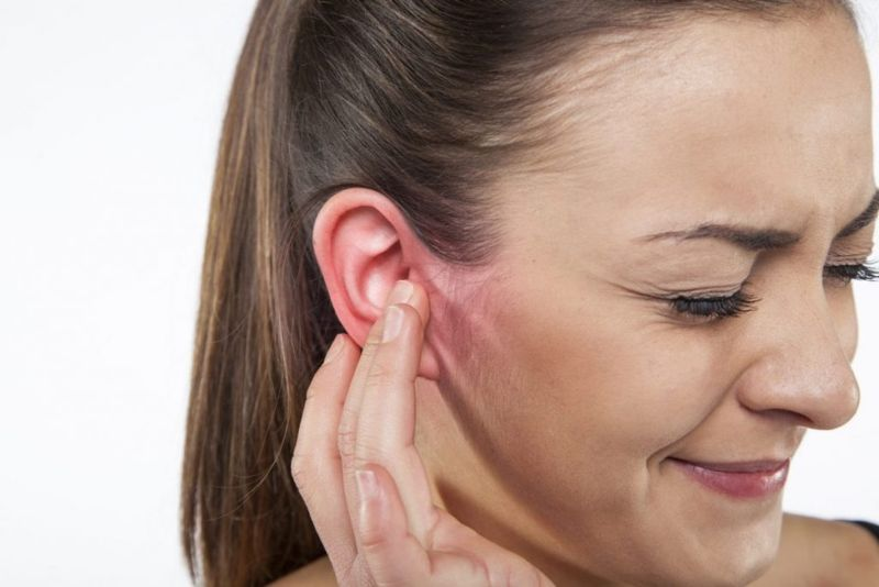 odorless discharge clear ear redness
