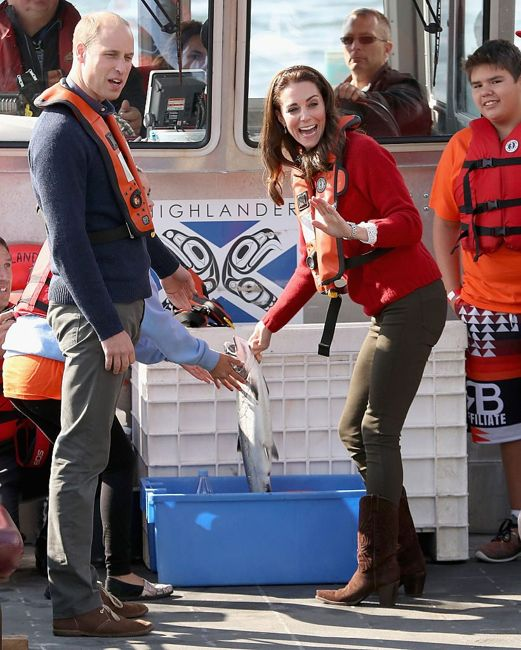 Kate Middleton fishing