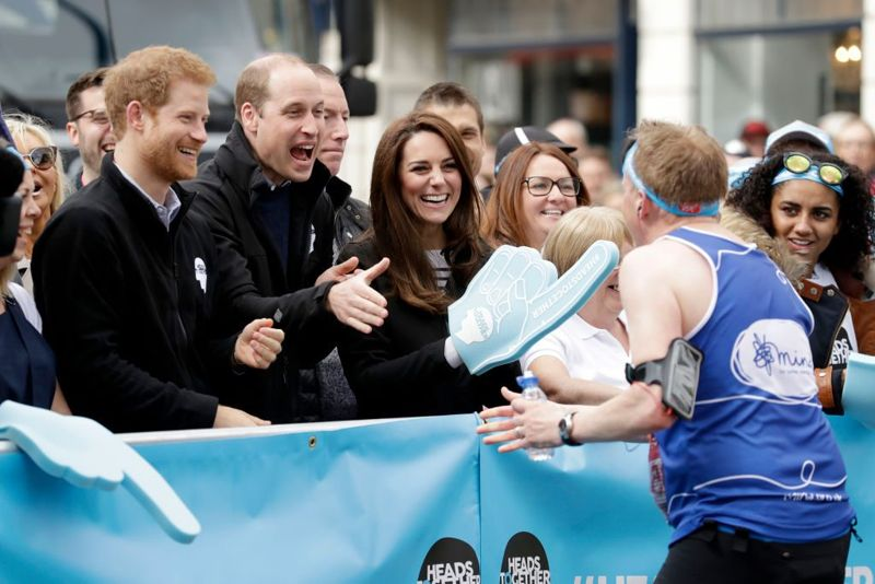 Kate, Harry and William
