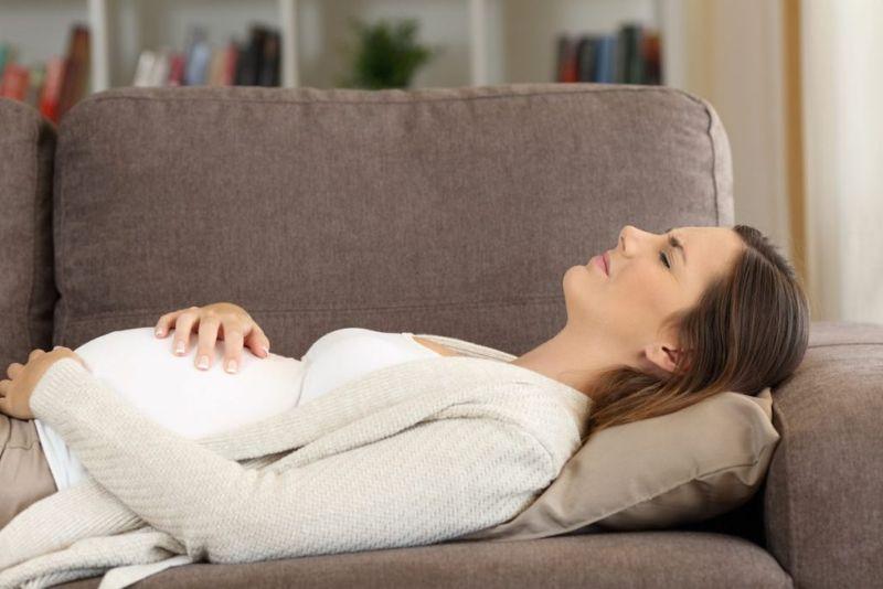 pregnant woman supine