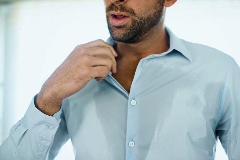 sweat overheat temperature shirt