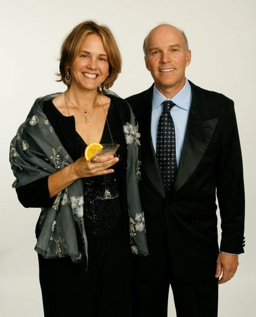 LOS ANGELES, CA - FEBRUARY 03: EXCLUSIVE ACCESS. Director Peter Markle and guest pose in the portrait studio during the 59th annual Directors Guild Of America Awards held at Hyatt Regency Century Plaza on February 3, 2007 in Los Angeles, California. (Photo by Vince Bucci/Getty Images for DGA)