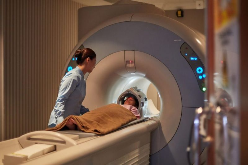 during scans CT scans