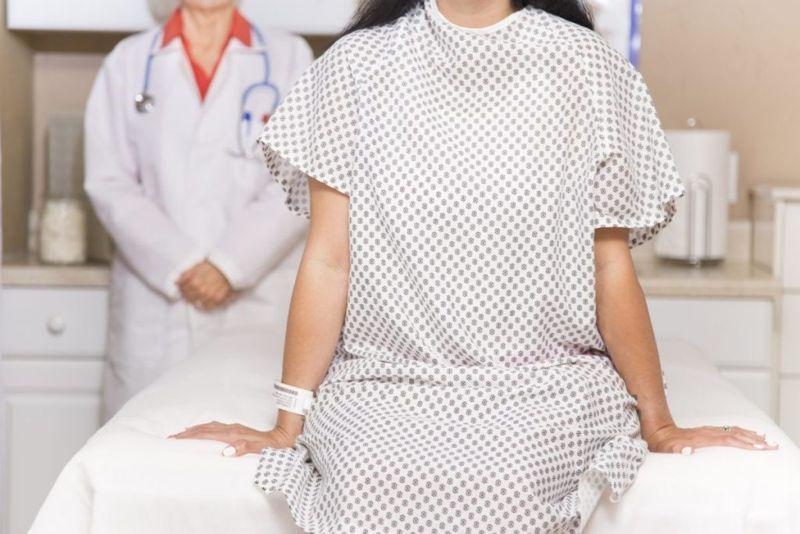 woman patient cervical exam