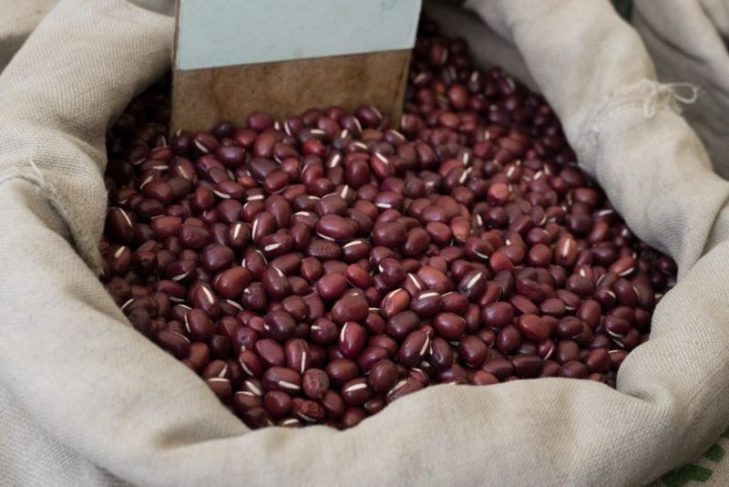 storing azuki beans