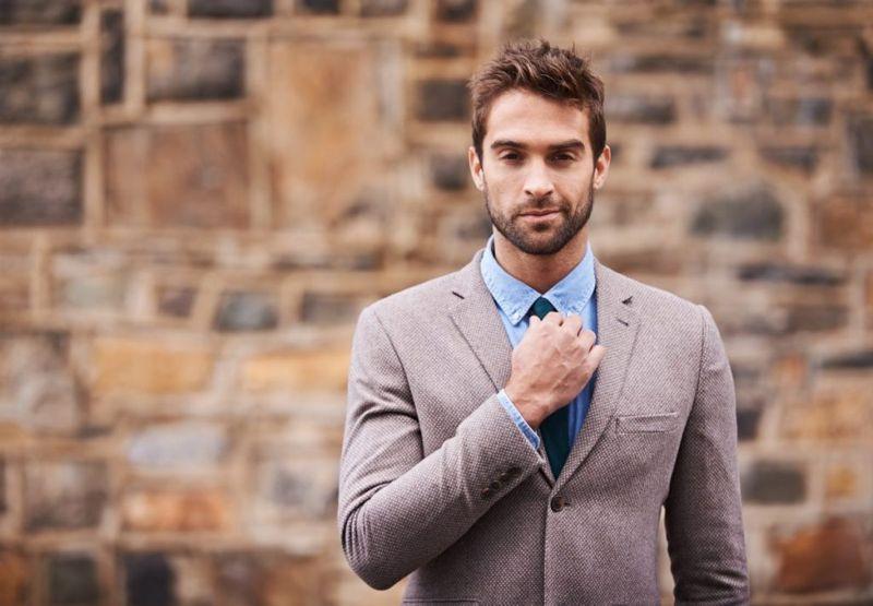 groomed fashionable businessman
