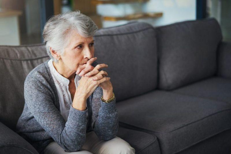 Worried Older Woman