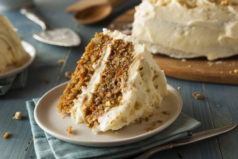 dry ingredients carrot cake