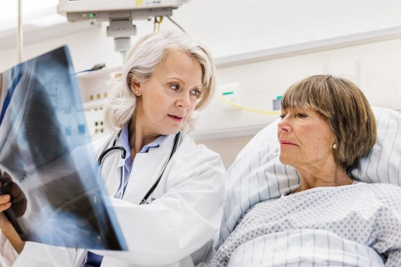 doctor patient discussing risks