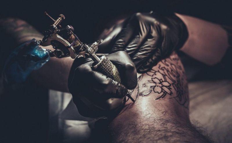 artists getting a tattoo