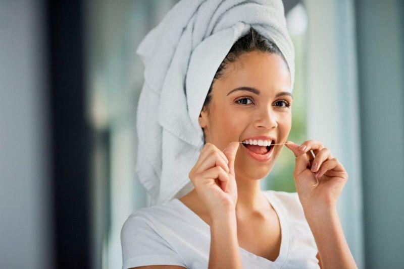 flossing floss dentists