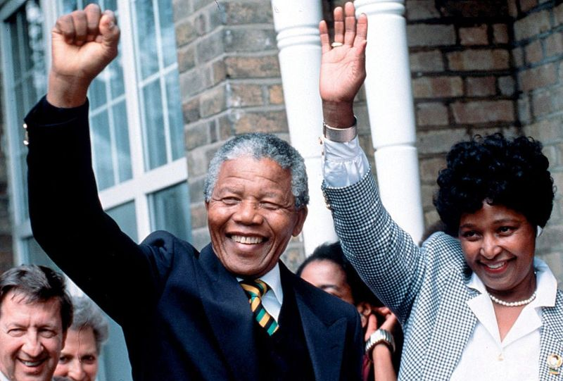 Nelson Mandela studies politics