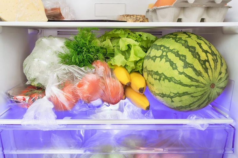 watermelon stored refrigerator ripe whole