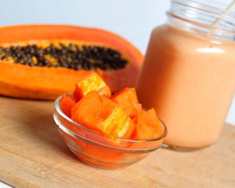 papaya milkshake drink milk