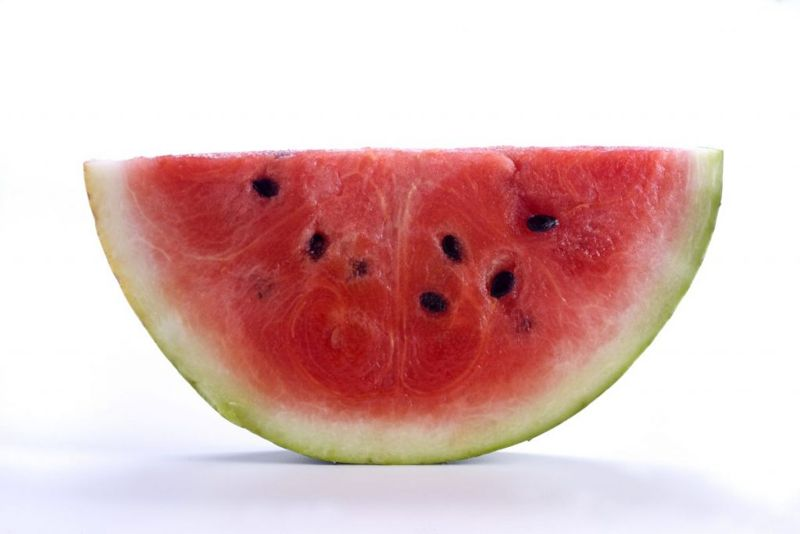 cut red watermelon slices