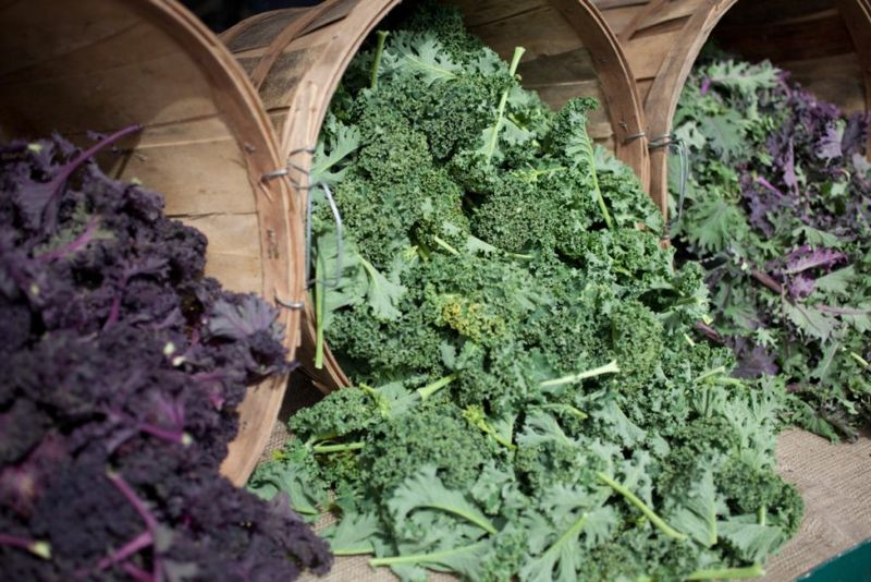 Kale is sturdy enough for warm dressings