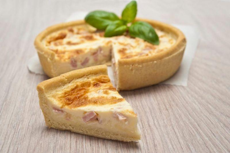 ham quiche swiss cheddar cheese