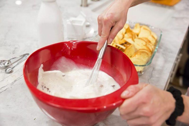 prepare french toast casserole liquid