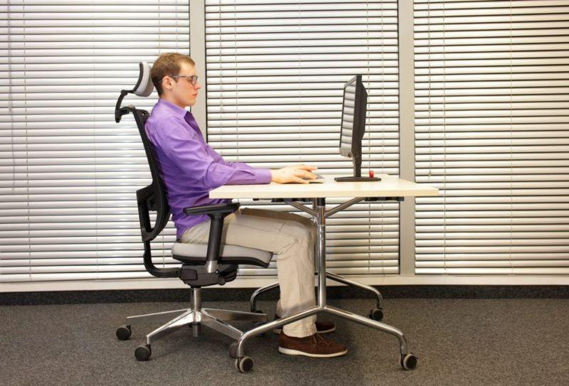 ergonomic chair desk position adjustment