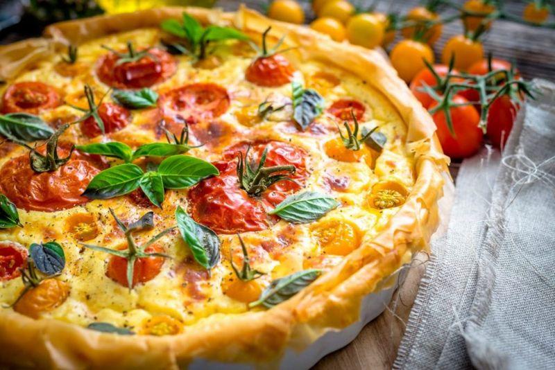 quiche tomato jack cheese onion