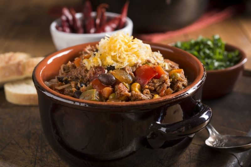 red chili with beans