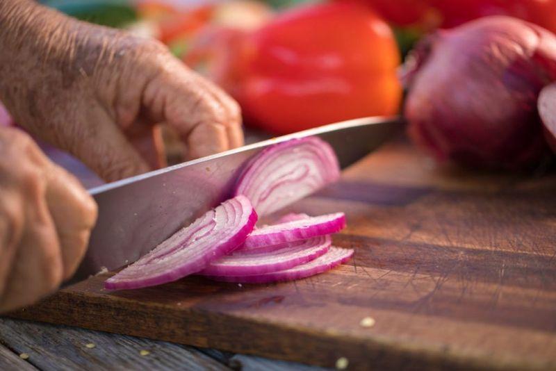preparing traditional chili vegetables
