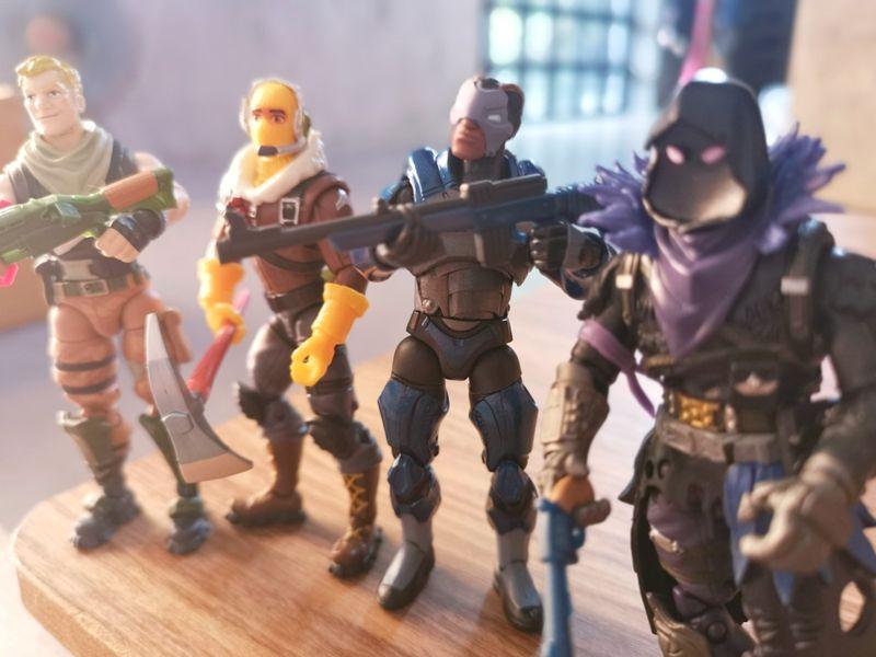 Four Fortnite figures
